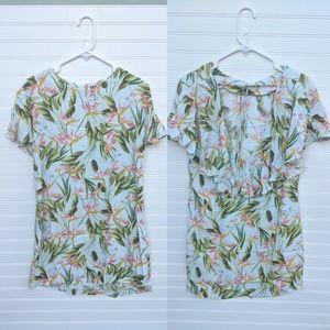 Zara Basic Tropical Print Dress